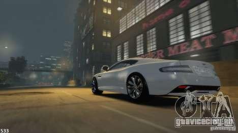Aston Martin Virage 2012 v1.0 для GTA 4 вид сзади слева