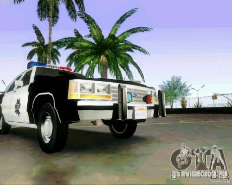 Ford Crown Victoria LTD 1991 SFPD для GTA San Andreas вид изнутри
