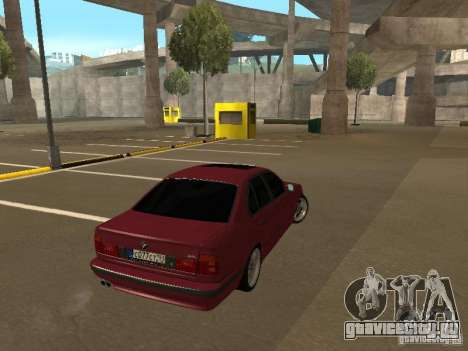 BMW E34 M5 для GTA San Andreas вид слева