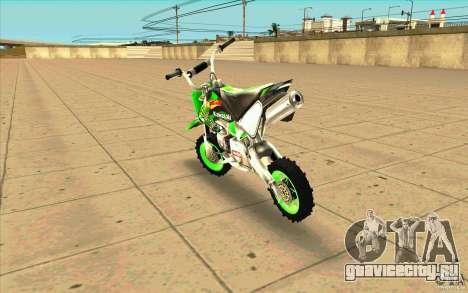 Kawasaki PitBike для GTA San Andreas вид сзади слева