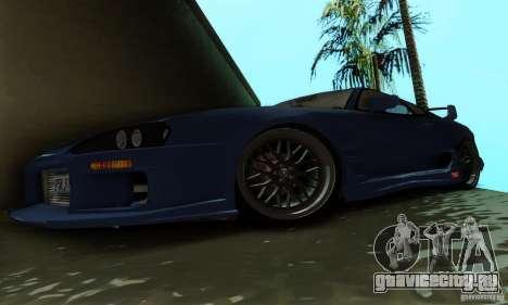 Toyota Supra TRD для GTA San Andreas вид изнутри
