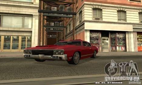 Sabre Drift для GTA San Andreas вид сбоку
