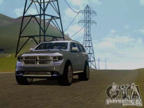 Dodge Durango 2012 для GTA San Andreas вид сзади