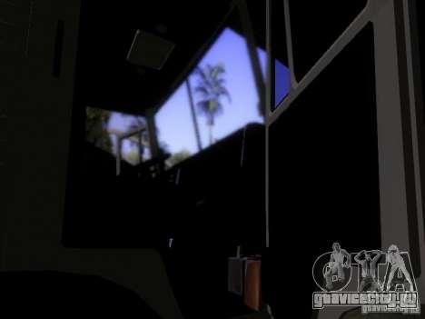 КамАЗ 53212 Молоковоз для GTA San Andreas вид изнутри
