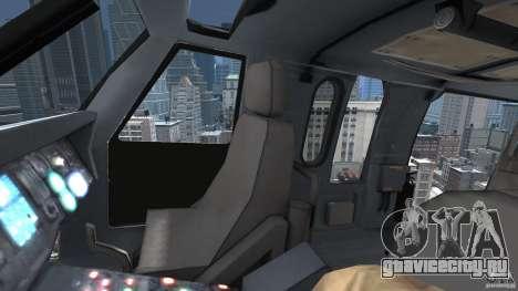 Sikorsky UH-60 Black Hawk для GTA 4 вид сбоку