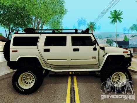 Hummer H2 Monster 4x4 для GTA San Andreas вид сзади слева
