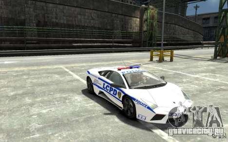 Lamborghini Reventon LCPD для GTA 4 вид сзади