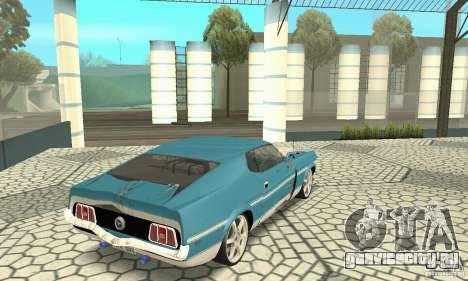 Ford Mustang Mach 1 1971 для GTA San Andreas вид сбоку