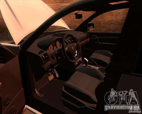 Porsche Cayenne Turbo S для GTA San Andreas вид изнутри