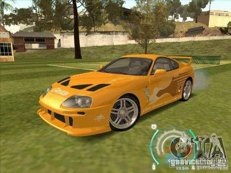 Toyota Supra from 2 Fast 2 Furious для GTA San Andreas