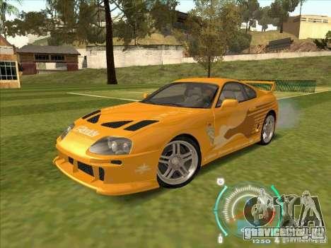 Toyota Supra from 2 Fast 2 Furious для GTA San Andreas