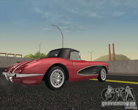 Chevrolet Corvette 1959 для GTA San Andreas вид справа