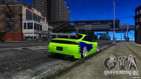 Mitsubishi Eclipse GSX FnF для GTA 4 вид слева