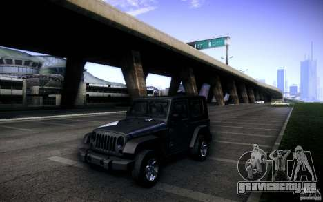Jeep Wrangler Rubicon 2012 для GTA San Andreas вид сбоку