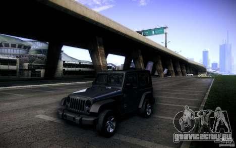 Jeep Wrangler Rubicon 2012 для GTA San Andreas вид сбоку