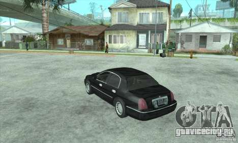Lincoln Town Car 2002 для GTA San Andreas вид слева