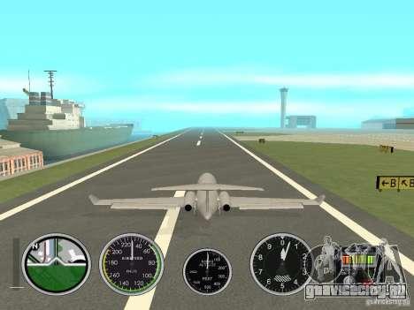 Авиа приборы в самолете для GTA San Andreas