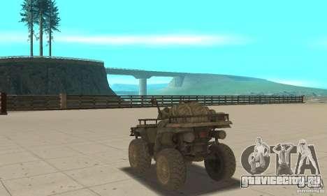 Новый Квадроцикл для GTA San Andreas вид сзади слева