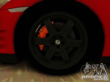 Nissan GTR Egoist 2011 для GTA San Andreas вид изнутри
