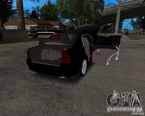 Mitsubishi Diamante для GTA San Andreas вид сзади
