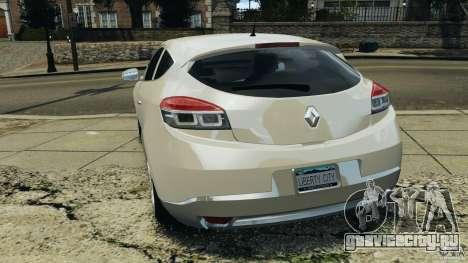 Renault Megane Coupe для GTA 4 вид сзади слева