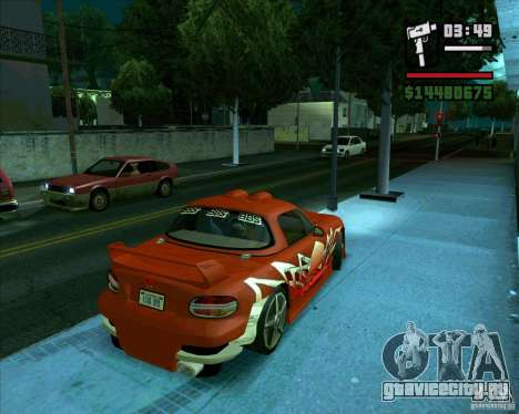 Mazda Miata Tunable для GTA San Andreas вид сзади слева
