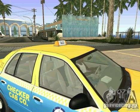 Ford Crown Victoria 2003 Taxi Cab для GTA San Andreas вид изнутри