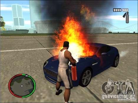 Тушение авто огнетушителем для GTA San Andreas третий скриншот