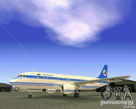 Airbus A-320 Azerbaijan Airlines для GTA San Andreas вид сбоку