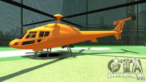 Helicopter From NFS Undercover для GTA 4 вид сзади слева
