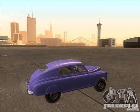 ГАЗ М72 для GTA San Andreas вид слева