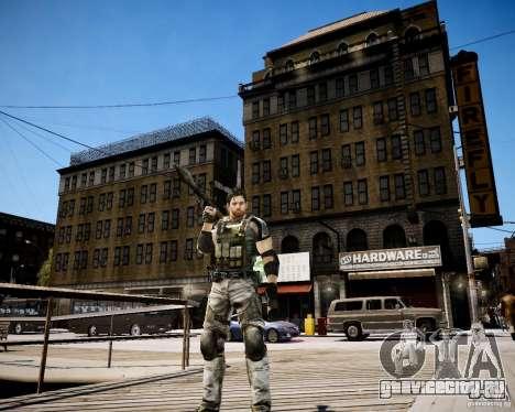Chris from Resident Evil 5 для GTA 4 пятый скриншот