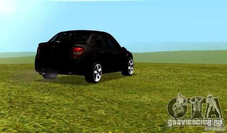 Лада Гранта v2.0 для GTA San Andreas вид сзади