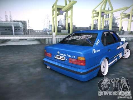BMW E34 Drift для GTA San Andreas вид сзади слева
