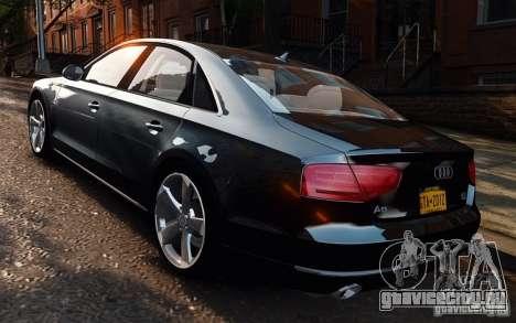 Audi A8 2010 V8 FSI для GTA 4 вид слева
