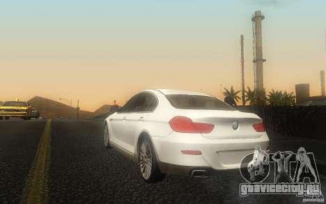 BMW 6 Series Gran Coupe 2013 для GTA San Andreas вид сзади слева