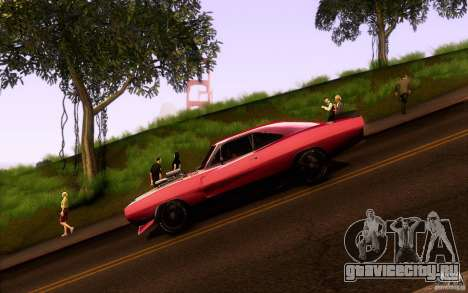 Dodge Charger RT для GTA San Andreas вид слева