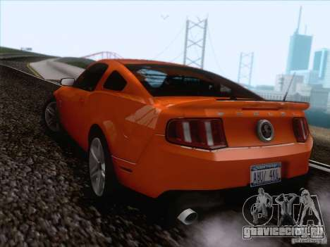Ford Shelby Mustang GT500 2010 для GTA San Andreas вид изнутри