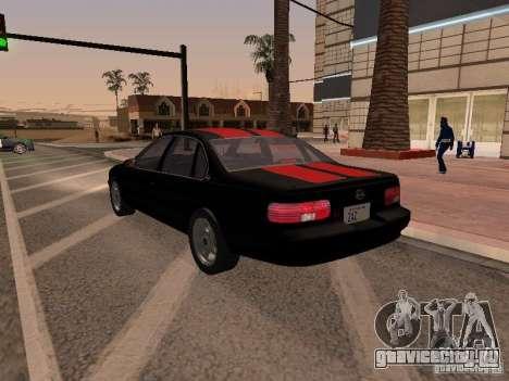Chevrolet Impala SS 1995 для GTA San Andreas вид сбоку