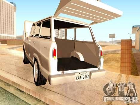 Chevrolet Veraneio de Luxo 1973 для GTA San Andreas вид изнутри