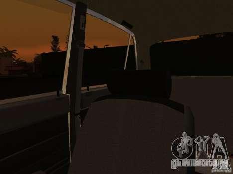 ВАЗ 2106 Полиция v2.0 для GTA San Andreas вид сверху