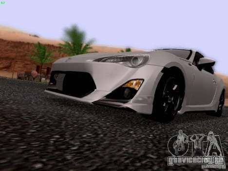 Toyota 86 TRDPerformanceLine 2012 для GTA San Andreas вид изнутри