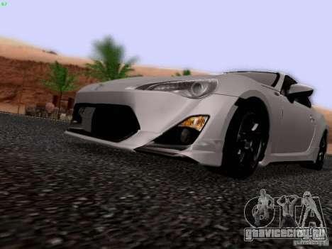 Toyota 86 TRDPerformanceLine 2012 для GTA San Andreas вид изнутри