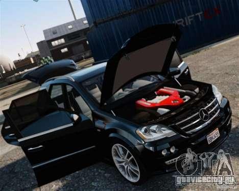 Mercedes-Benz ML Brabus 2009 для GTA 4 вид сзади слева