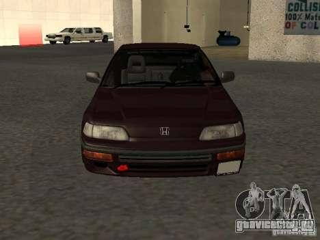 Honda Civic CRX JDM для GTA San Andreas вид сверху