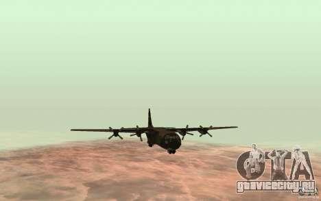 C-130 From Black Ops для GTA San Andreas вид сзади слева