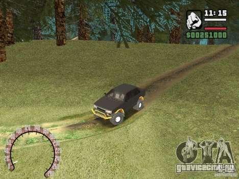Ваз 21099 4х4 для GTA San Andreas вид сзади