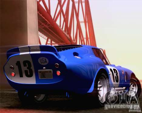 Shelby Cobra Daytona Coupe 1965 для GTA San Andreas вид справа