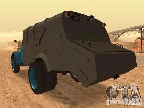 ГАЗ 51 Мусоровоз для GTA San Andreas вид сзади слева