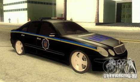 MERCEDES BENZ E500 w211 SE Police Украина для GTA San Andreas